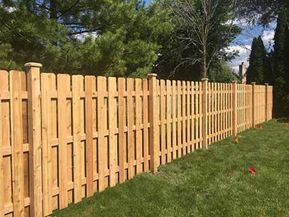 Wood Fence - Shadow Board Rolling Arch